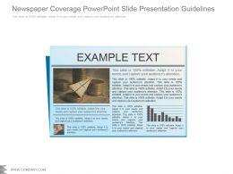 Newspaper Coverage Powerpoint Slide Presentation Guidelines