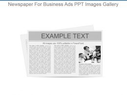 Newspaper For Business Ads Ppt Images Gallery
