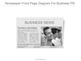 Newspaper Front Page Diagram For Business Pr Ppt Slide Design