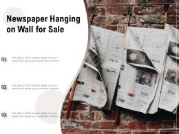 Newspaper Hanging On Wall For Sale