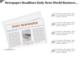 Newspaper Headlines Daily News World Business Finance Lifestyle Travel
