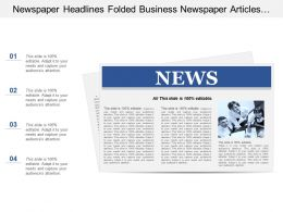 Newspaper Headlines Folded Business Newspaper Articles Information