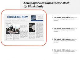 Newspaper Headlines Vector Mock Up Blank Daily