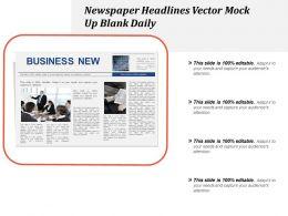 Newspaper Headlines Vector Mock Up Blank Daily