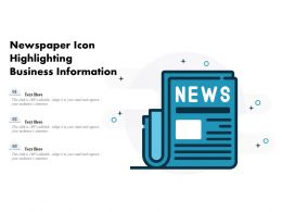 Newspaper Icon Highlighting Business Information