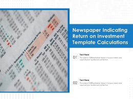 Newspaper Indicating Return On Investment Template Calculations