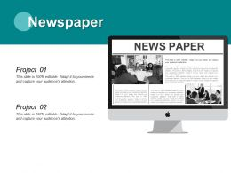 Newspaper Information L317 Ppt Powerpoint Presentation Outline Layout Ideas