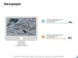 Newspaper Knowledge Information Ppt Powerpoint Presentation Icon Deck