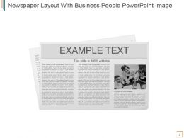 Newspaper Layout With Business People Powerpoint Image