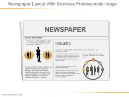 Newspaper Layout With Business Professionals Image Ppt Images