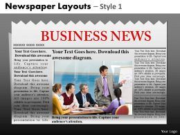 Newspaper Layouts Style 10 PPT 1