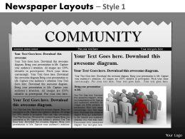 28335198 Style Variety 2 Newspaper 1 Piece Powerpoint Presentation Diagram Infographic Slide