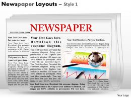 12210861 Style Variety 2 Newspaper 1 Piece Powerpoint Presentation Diagram Infographic Slide