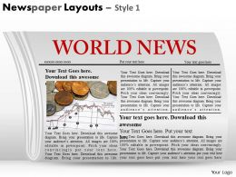 13658670 Style Variety 2 Newspaper 1 Piece Powerpoint Presentation Diagram Infographic Slide