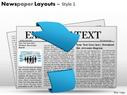 Newspaper Layouts Style 1 PPT 12