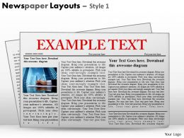 71387625 Style Variety 2 Newspaper 1 Piece Powerpoint Presentation Diagram Infographic Slide