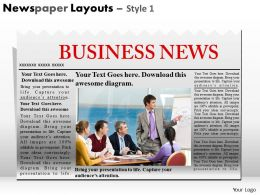 Newspaper Layouts Style 1 PPT 1