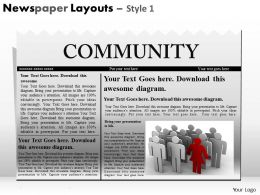 Newspaper Layouts Style 1 PPT 2
