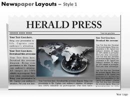 39857022 Style Variety 2 Newspaper 1 Piece Powerpoint Presentation Diagram Infographic Slide
