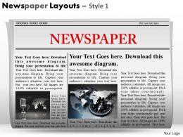 57600447 Style Variety 2 Newspaper 1 Piece Powerpoint Presentation Diagram Infographic Slide