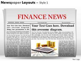73508518 Style Variety 2 Newspaper 1 Piece Powerpoint Presentation Diagram Infographic Slide