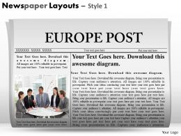Newspaper Layouts Style 1 PPT 6