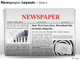29118868 Style Variety 2 Newspaper 1 Piece Powerpoint Presentation Diagram Infographic Slide