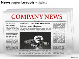 Newspaper Layouts Style 1 PPT 8