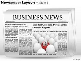 Newspaper Layouts Style 1 PPT 9