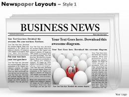 83389584 Style Variety 2 Newspaper 1 Piece Powerpoint Presentation Diagram Infographic Slide
