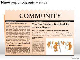 Newspaper Layouts Style 2 Powerpoint Presentation Slides