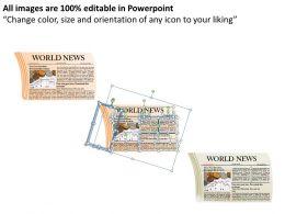 Newspaper Layouts Style 2 Powerpoint Presentation Slides DB
