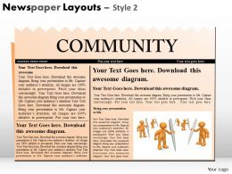 Newspaper Layouts Style 2 PPT 1