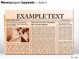 78226006 Style Variety 2 Newspaper 1 Piece Powerpoint Presentation Diagram Infographic Slide