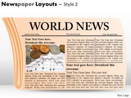 Newspaper Layouts Style 2 PPT 4