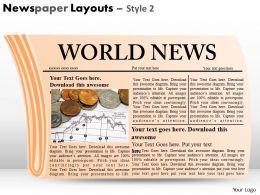 10886349 Style Variety 2 Newspaper 1 Piece Powerpoint Presentation Diagram Infographic Slide
