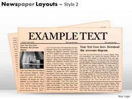 31369177 Style Variety 2 Newspaper 1 Piece Powerpoint Presentation Diagram Infographic Slide