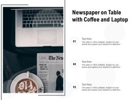 Newspaper On Table With Coffee And Laptop