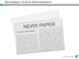 Newspaper Outline Advertisement Presentation Diagram