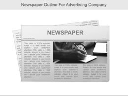 Newspaper Outline For Advertising Company