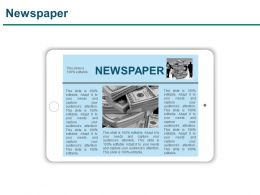 Newspaper Powerpoint Slide Backgrounds
