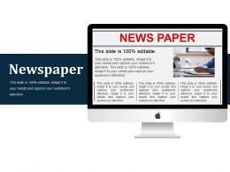 20381647 Style Variety 2 Newspaper 1 Piece Powerpoint Presentation Diagram Infographic Slide