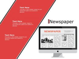 Newspaper Ppt Powerpoint Presentation File Example File