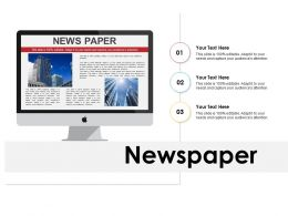 Newspaper Ppt Powerpoint Presentation Professional Master Slide
