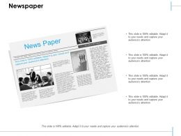Newspaper Ppt Styles Example Introduction