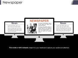 Newspaper Presentation Slides Template 1