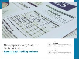 Newspaper Showing Statistics Table On Stock Return And Trading Volume