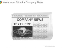 Newspaper Slide For Company News Ppt Icon