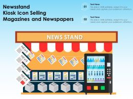 Newsstand Kiosk Icon Selling Magazines And Newspapers