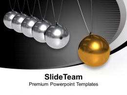 Newton Cradle Balancing Balls Creativity PowerPoint Templates PPT Backgrounds For Slides 0113